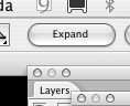 Ubica el nbotón expand dentro de la misma barra superior