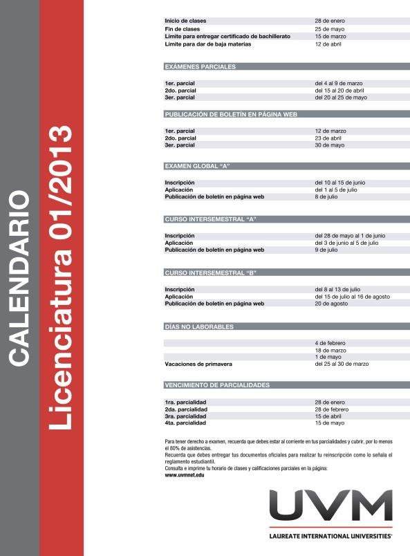 Calendarios LS 01-2013